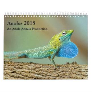 Calendário Anoles 2018 - Uma produção dos anais de Anole