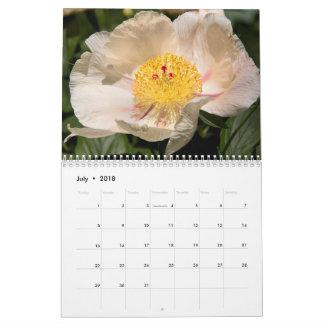 Calendário anual das peônias