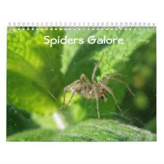 Calendário - aranhas abundante