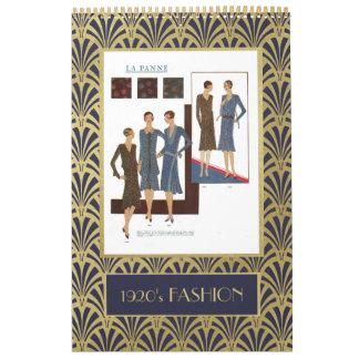 Calendário Art deco do ouro do falso da forma | do 1920 do
