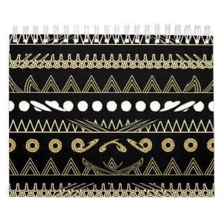 Calendário Arte africana contemporânea do estilo