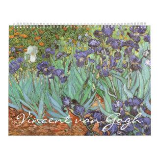 Calendário Arte dos apos impressionismo do vintage por