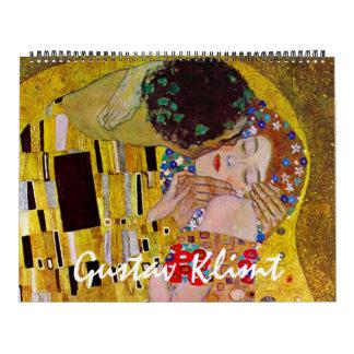 Calendário Arte Nouveau do vintage, belas artes de Gustavo