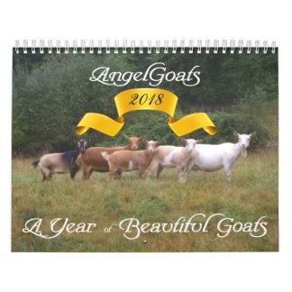 Calendário As cabras Calendar cabras bonitas AngelGoats
