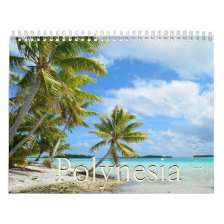 Calendário As ilhas do Pacífico calendar 2018