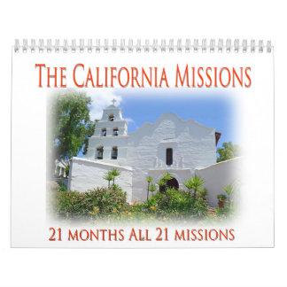 Calendário As missões de Califórnia