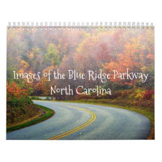 Calendário azul do Parkway de Ridge