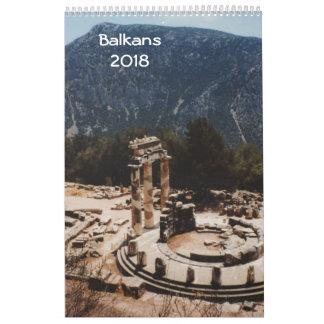 Calendário Balcãs 2018