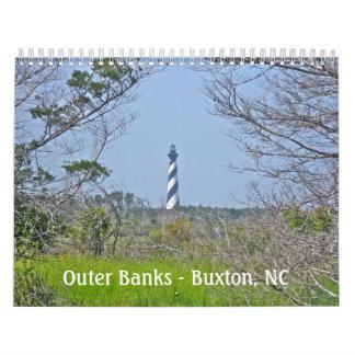 Calendário - bancos exteriores - Buxton NC