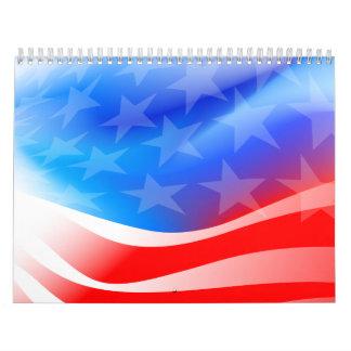 Calendário Bandeira dos EUA