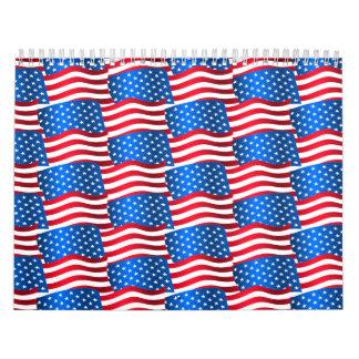 Calendário Bandeiras dos EUA