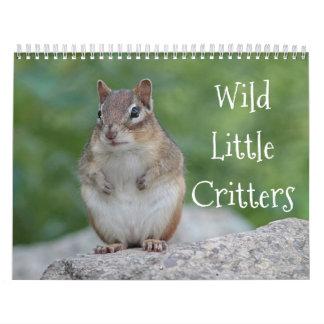 Calendário Bichos pequenos selvagens