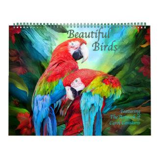 Calendário bonito da arte dos pássaros