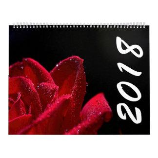 Calendário bonito das flores 2018