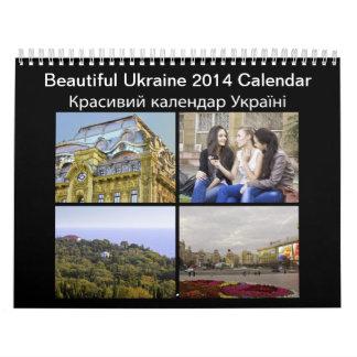 Calendário bonito de Ucrânia 2014