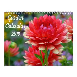 Calendário bonito do jardim