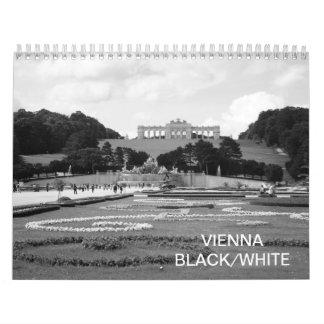 Calendário Branco preto 2018 de Viena Áustria