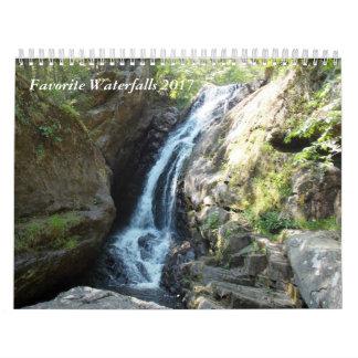 Calendário Cachoeiras favoritas 2017