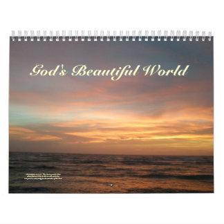 Calendário - calendário de mundo bonito do deus