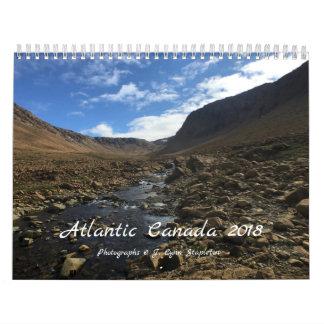 Calendário Canadá atlântico 2018