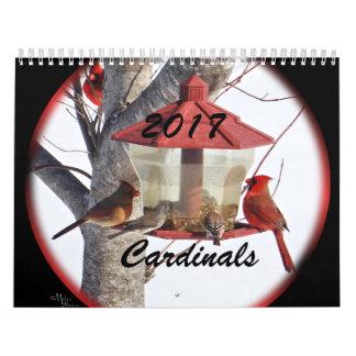 Calendário Cardeais para 2017 - mude o ano como necessário