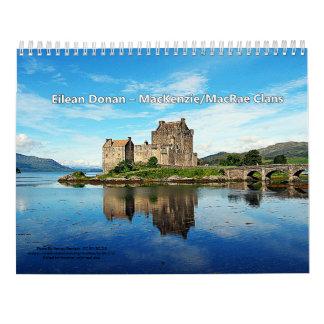 Calendário Castelos de 13 clãs escoceses das montanhas