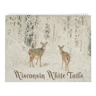 Calendário Caudas brancas de Wisconsin