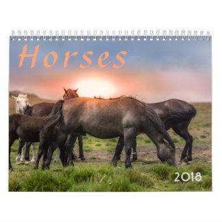 Calendário Cavalos 2018