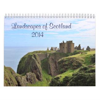 Calendário Cenas de Scotland: Terra, Loch e mar 2014