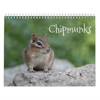 Calendário Chipmunks
