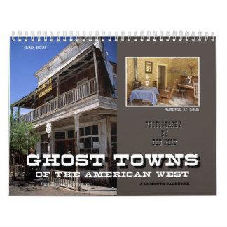 Calendário Cidades fantasmas do oeste americano