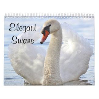 Calendário Cisnes elegantes