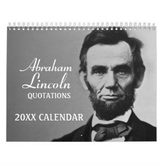 Calendário Citações de Abe Lincoln com foto
