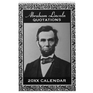Calendário Citações de Abe Lincoln com foto presidencial