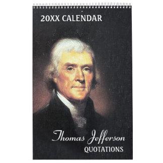 Calendário Citações de Thomas Jefferson