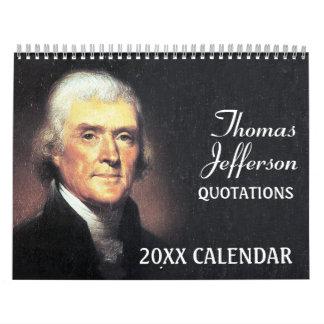 Calendário Citações de Thomas Jefferson com foto presidencial