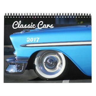 Calendário clássico dos carros 2017