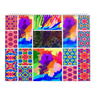 Calendário colorido arco-íris dos marcadores
