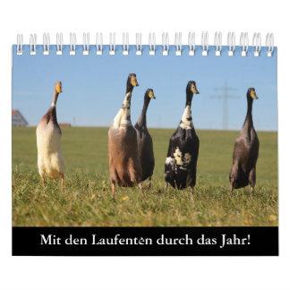 Calendário Com os patos de continuar pelo ano!