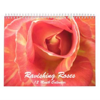Calendário cor-de-rosa da flor das fotos da foto