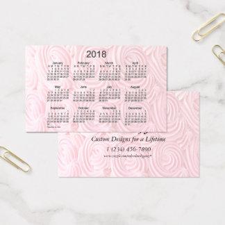 Calendário cor-de-rosa do glacé 2018 pelo cartão
