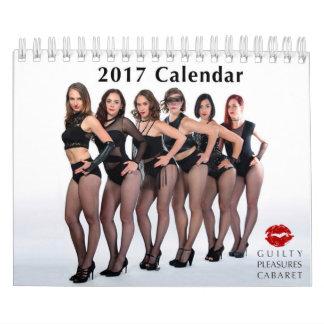 Calendário culpado da taberna 2017 dos prazeres