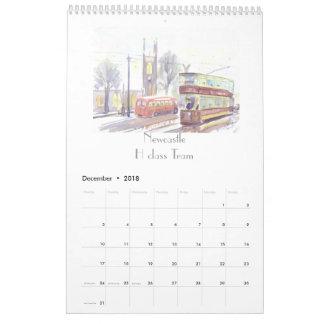 Calendário da arte do transporte