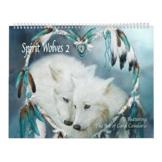 Calendário da arte dos lobos 2 do espírito
