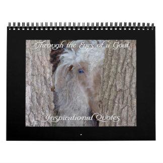 Calendário da cabra com citações inspiradas