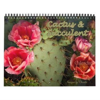 Calendário da flor do cacto 2018 & do Succulent