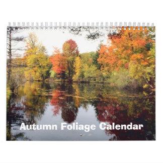 Calendário da folha 2017 do outono da queda