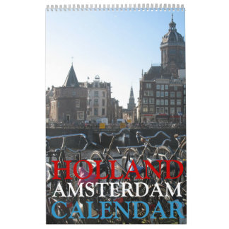 Calendário da foto de Amsterdão