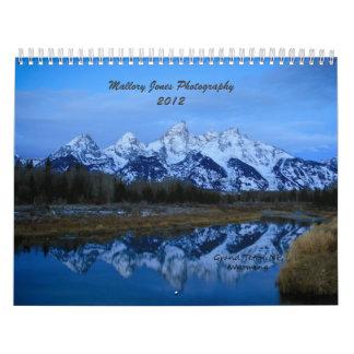 Calendário da fotografia 2012 de Mallory Jones