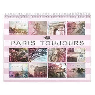 Calendário da fotografia de Paris Toujours